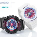 So sánh 2 mẫu đồng hồ Casio nữ Baby G thuộc   dòng BA-112 màu đối lập
